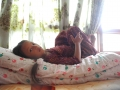 Een bed, een matras, dekens...een warm nest voor iedereen.
